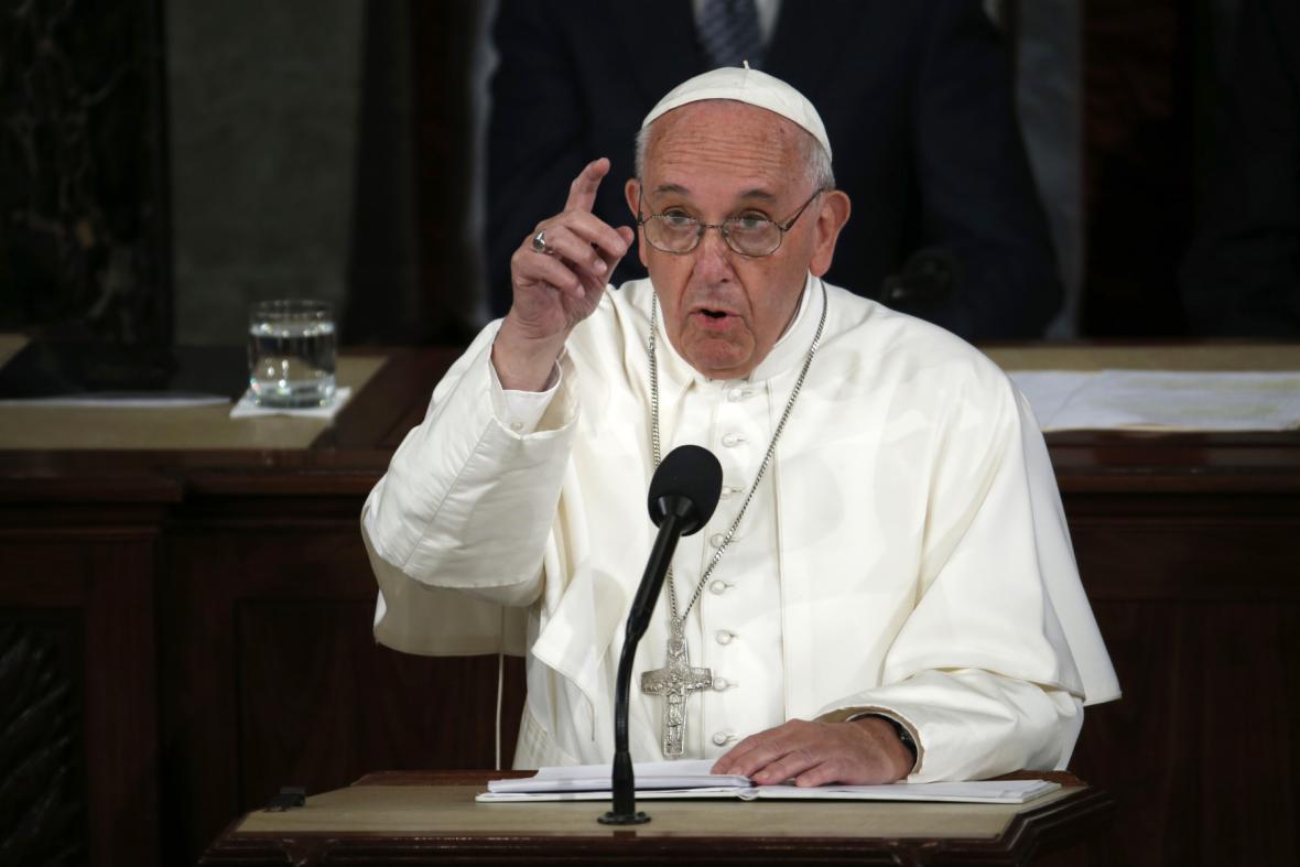 Papež František v historickém projevu před Kongresmeny
