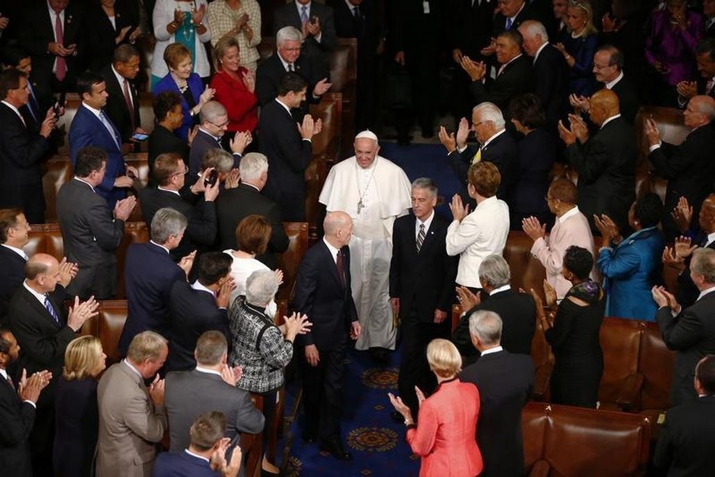 V Kongresu poprvé zněla slova papeže