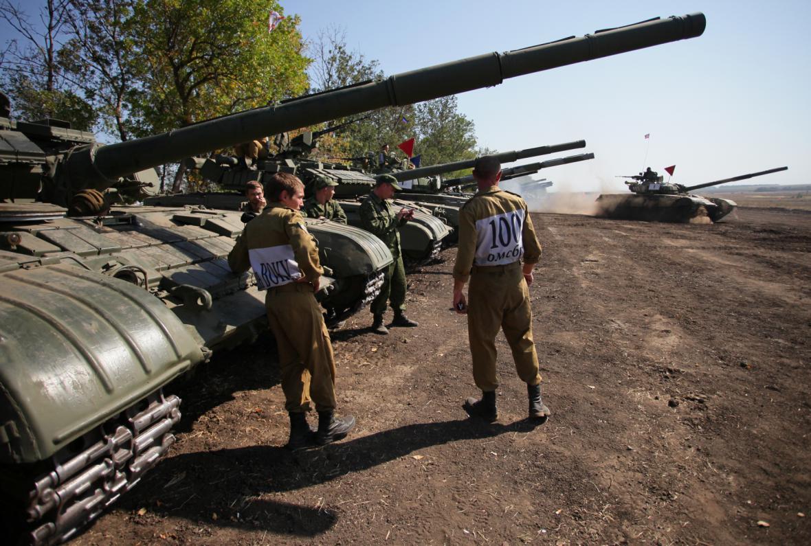 Vojenské cvičení na Ukrajně