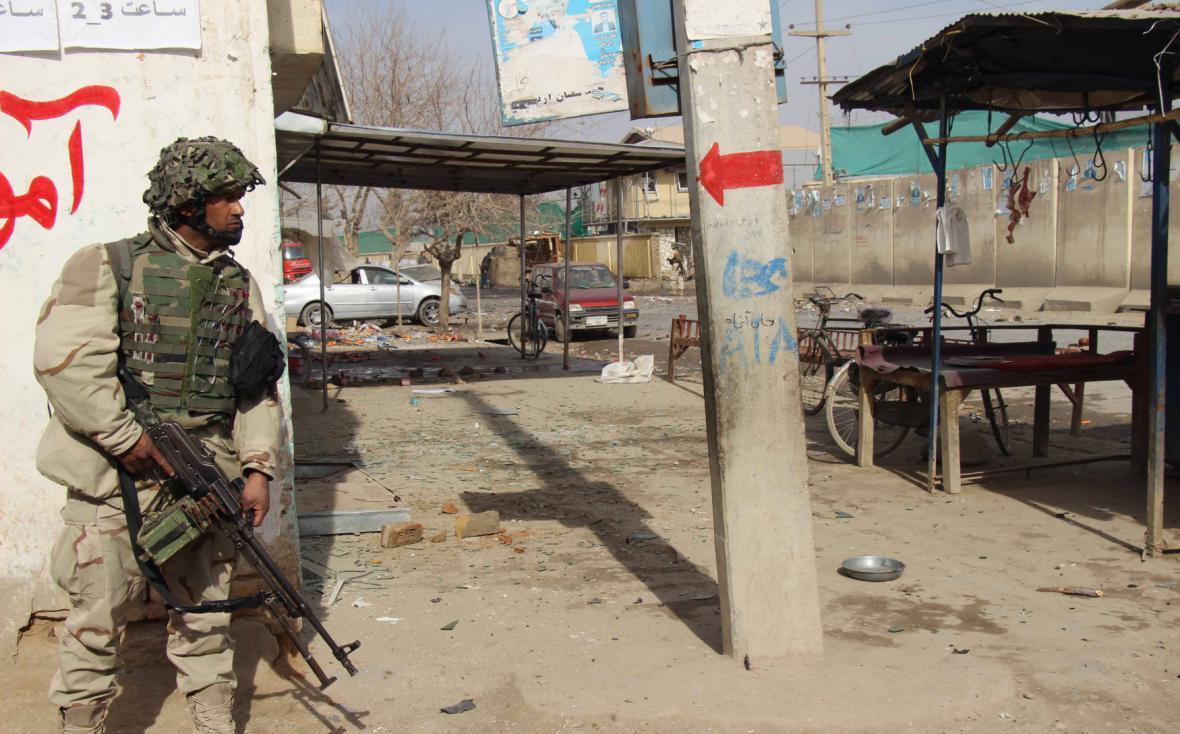 Policejní jednotky v blízkosti afghánského Kunduzu