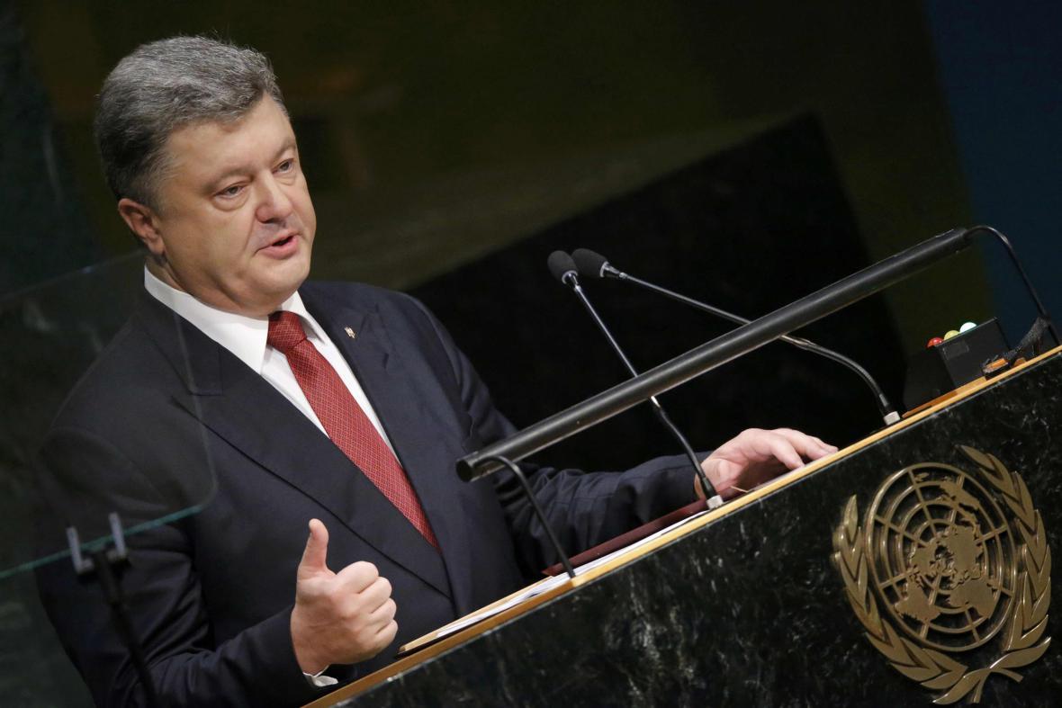 Petro Porošenko ve Valném shromáždění