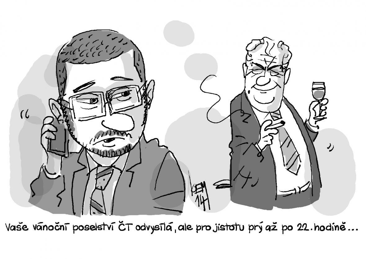 Karikatury Novinářské ceny 2014