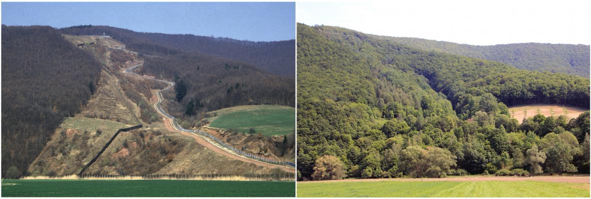 Vnitroněmecká hranice před a po roce 1990
