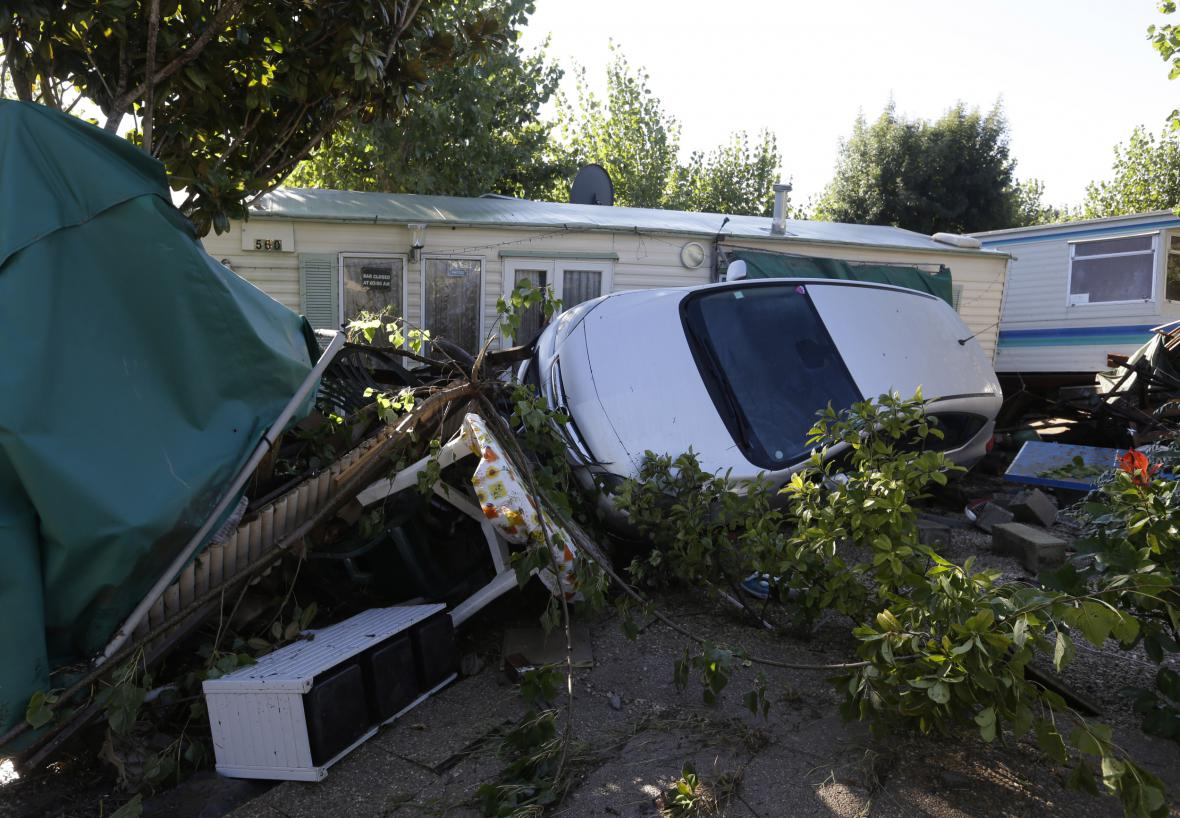Následky bouří a záplav v jihovýchodní Francii