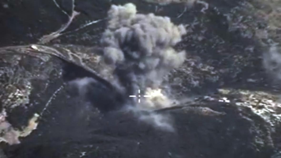 Ruský nálet v Sýrii