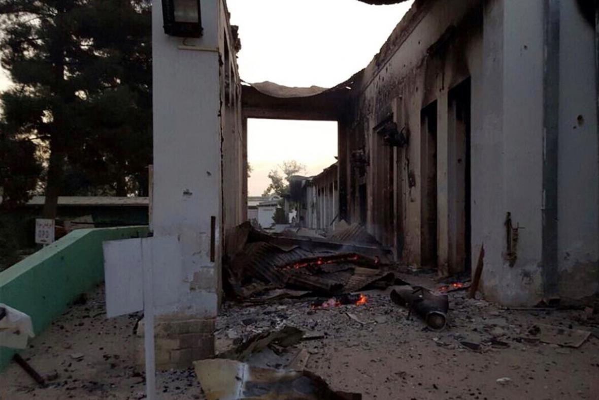 Zničená nemocnice v Kunduzu