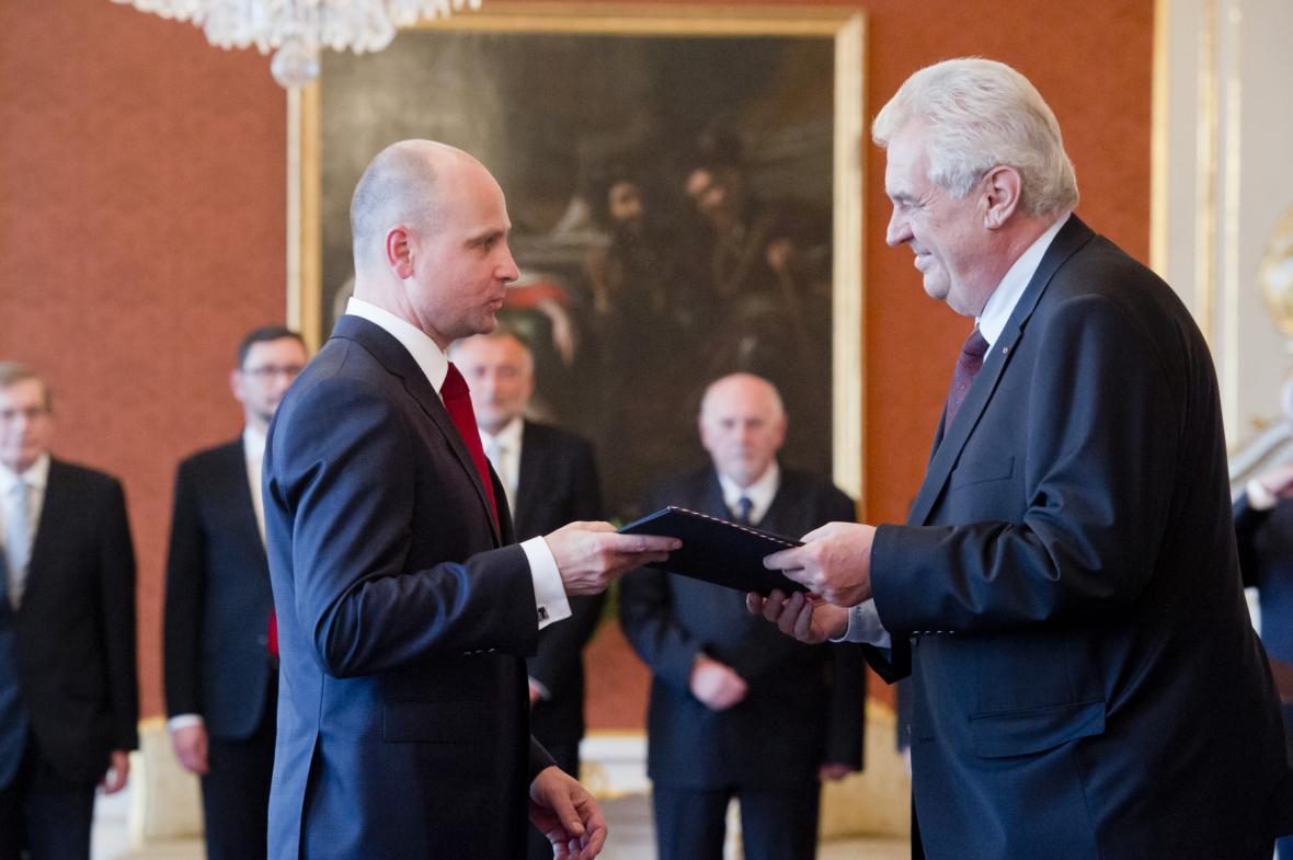 Jaromír Jirsa a Miloš Zeman