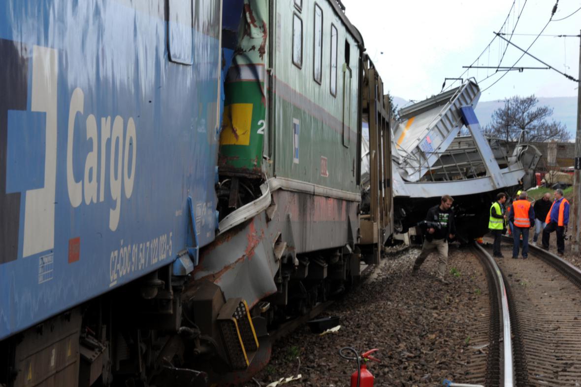 Železniční nehoda u Žalhostic - 28. 3. 2015