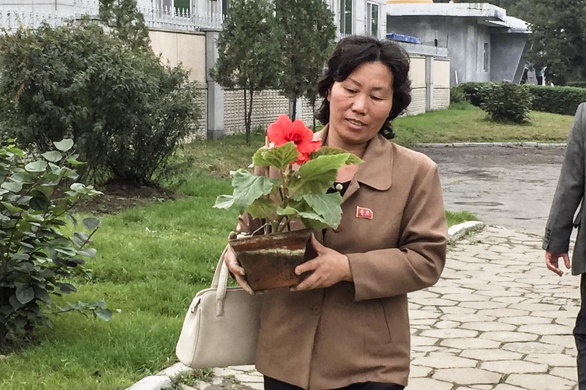 Reportérka ČT v Severní Koreji