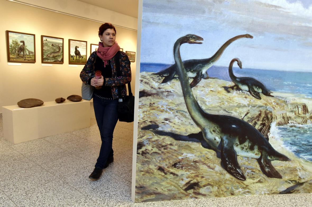 V brněnském muzeu jsou vystaveny desítky dinosaurů