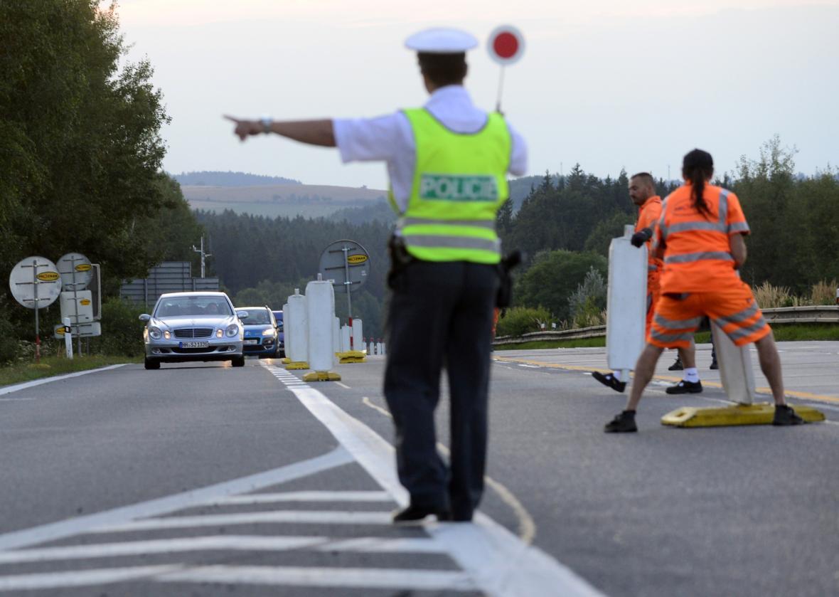 Uzavírka na dálnici