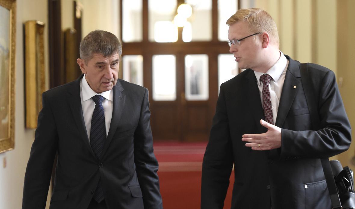 Pavel Bělobrádek a Andrej Babiš