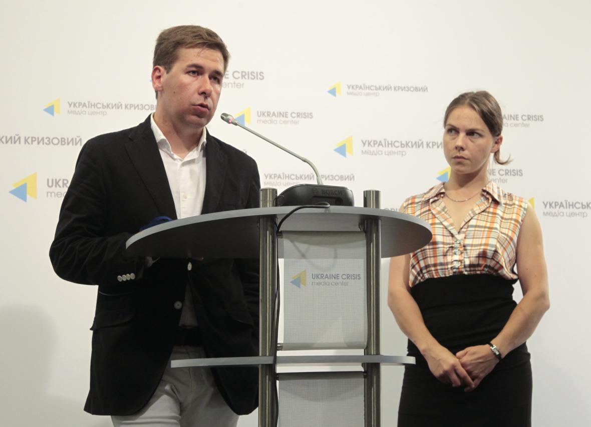 Vira Savčenková s právníkem Iljou Novikovem