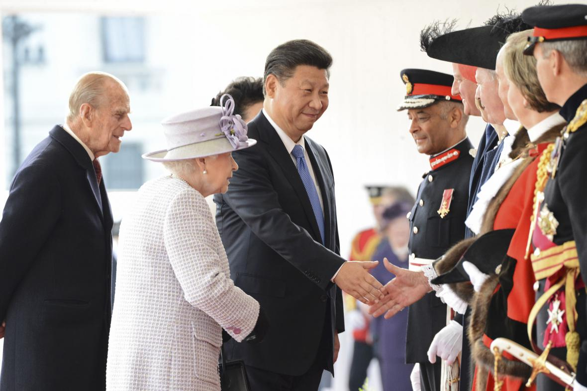 Uvítání čínského prezidenta v Británii