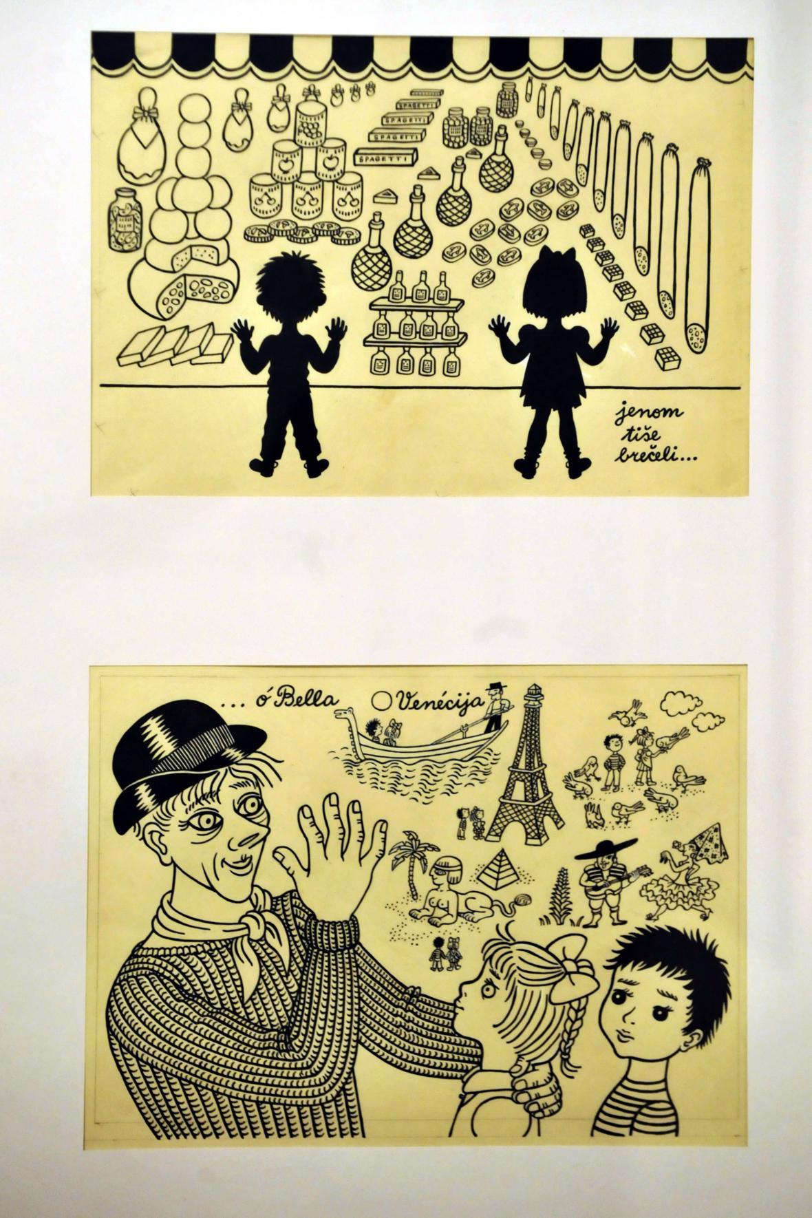 Slovácké muzeum vystavuje ilustrace Heleny Zmatlíkové