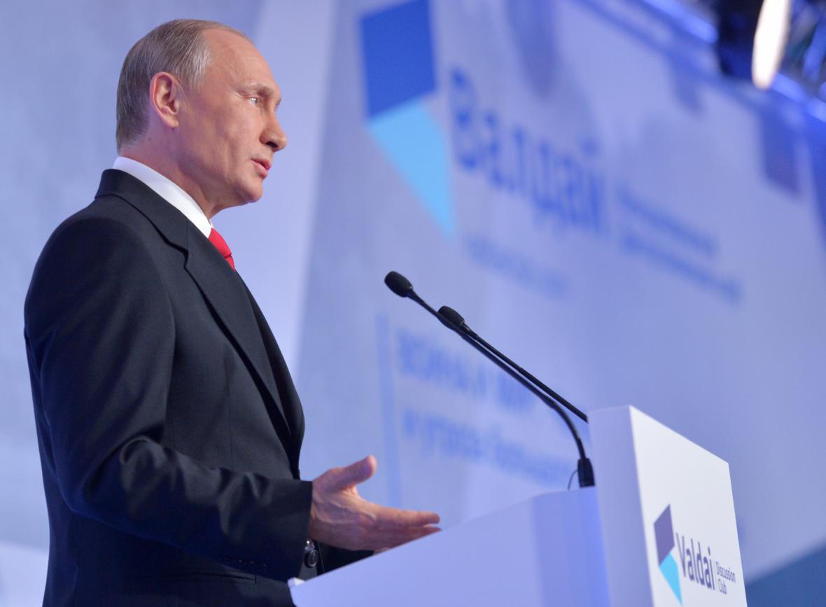 Vladimir Putin na konferenci Valdajského klubu