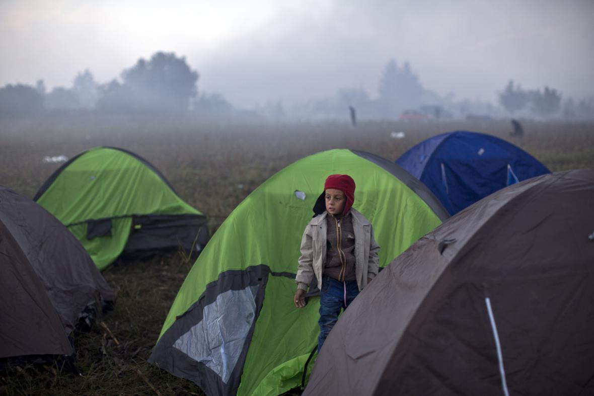Uprchlíci u srbsko-chorvatského přechodu Berkasovo