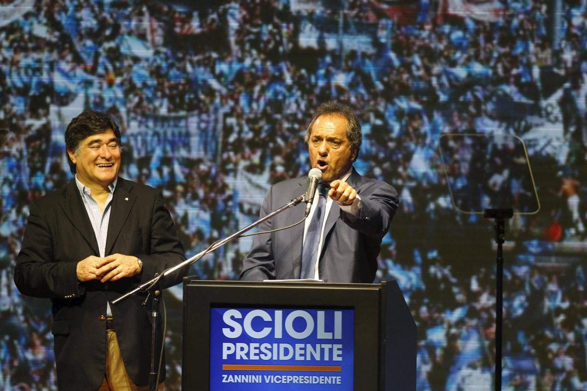Prezidentský kandidát Daniel Scioli