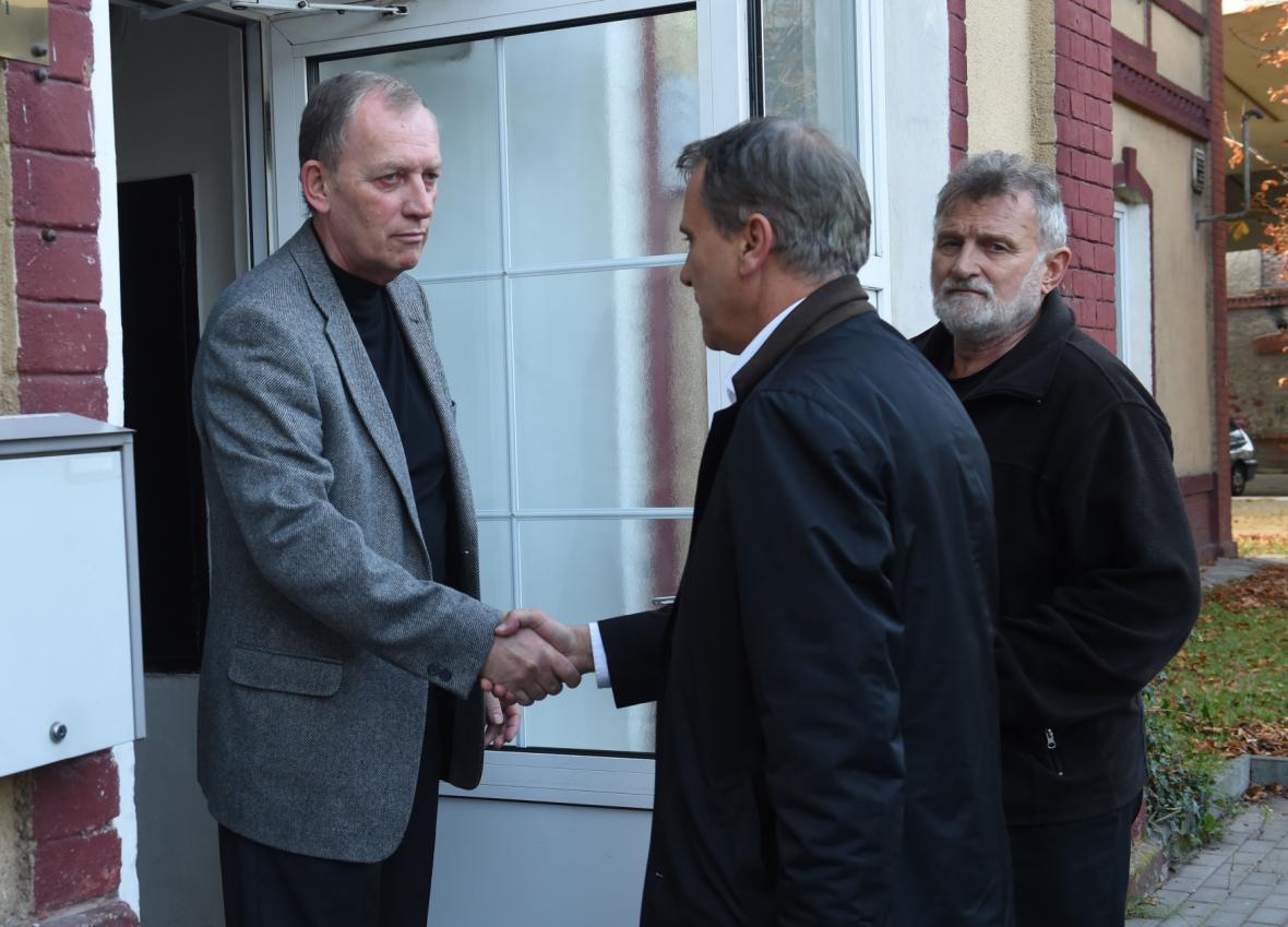 Jiří Rozbořil a šéf olomouckých komunistů Alexandr Černý