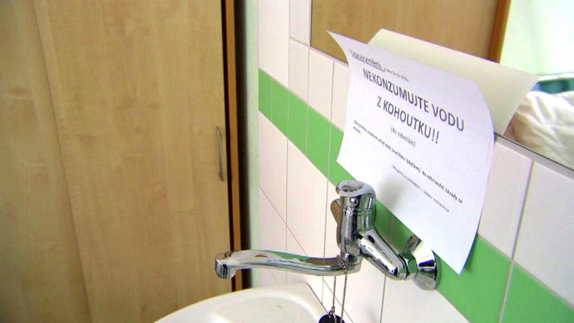 Havárie vody v prachatické nemocnici