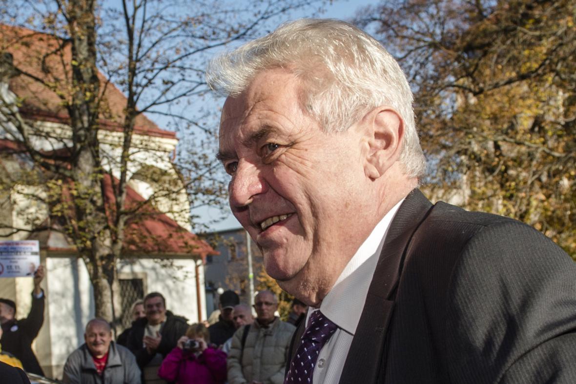 Prezident Miloš Zeman při návštěvě Pardubického kraje