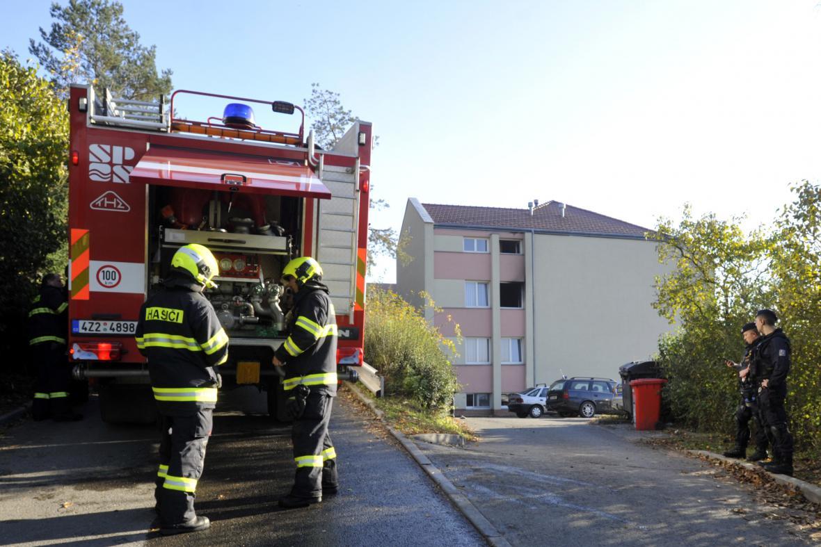 Požár v domě s pečovatelskou službou v Napajedlech