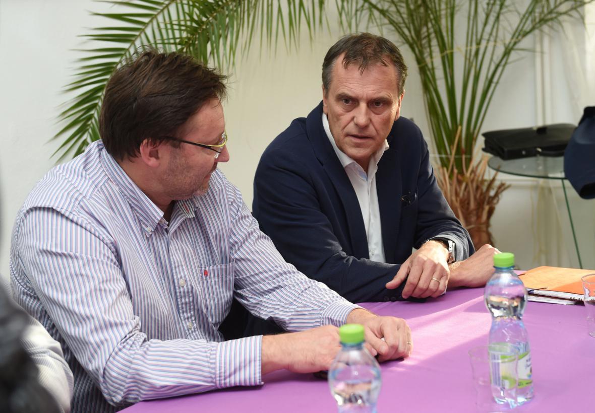 Šéf krajské ČSSD v Olomouci Jiří Zemánek a hejtman Jiří Rozbořil