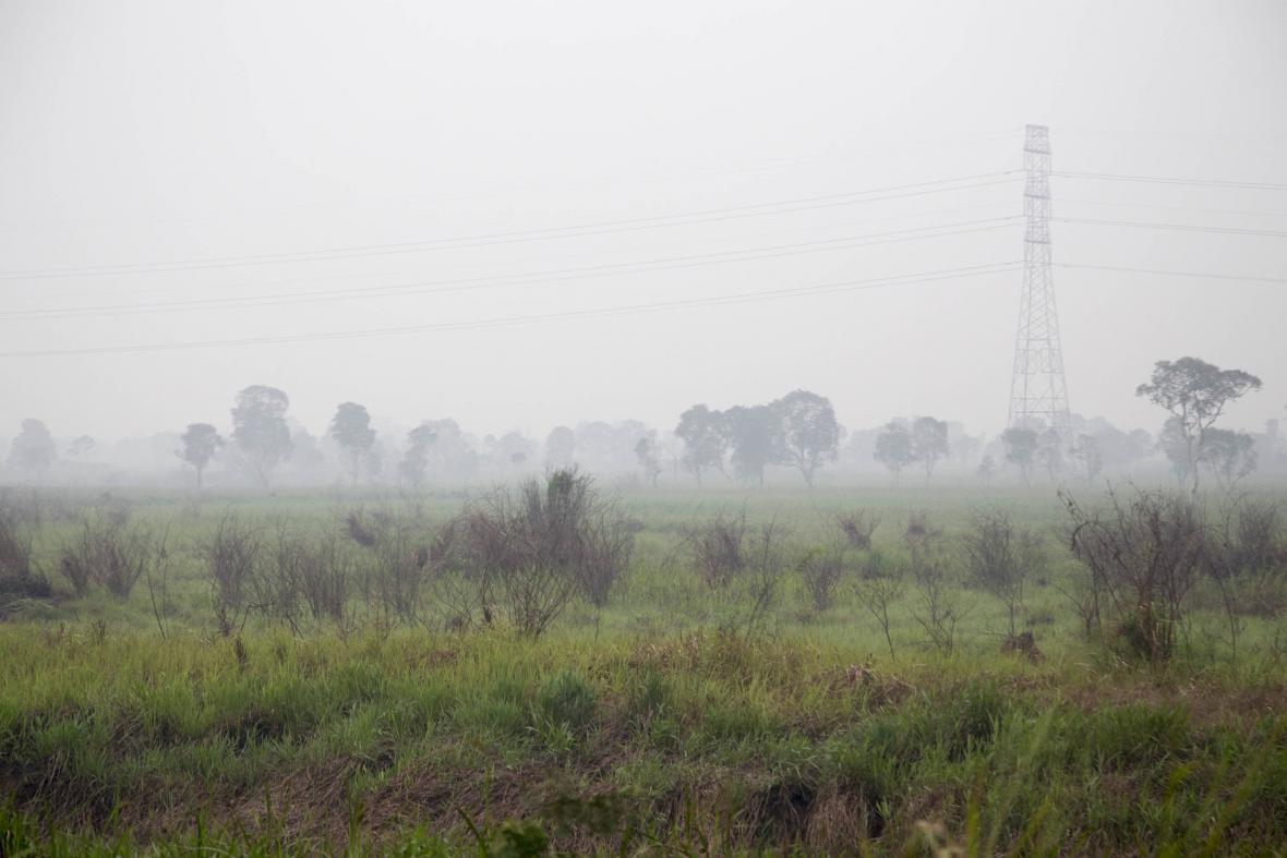 Zamořená obloha - každoroční problém jihovýchodu Asie