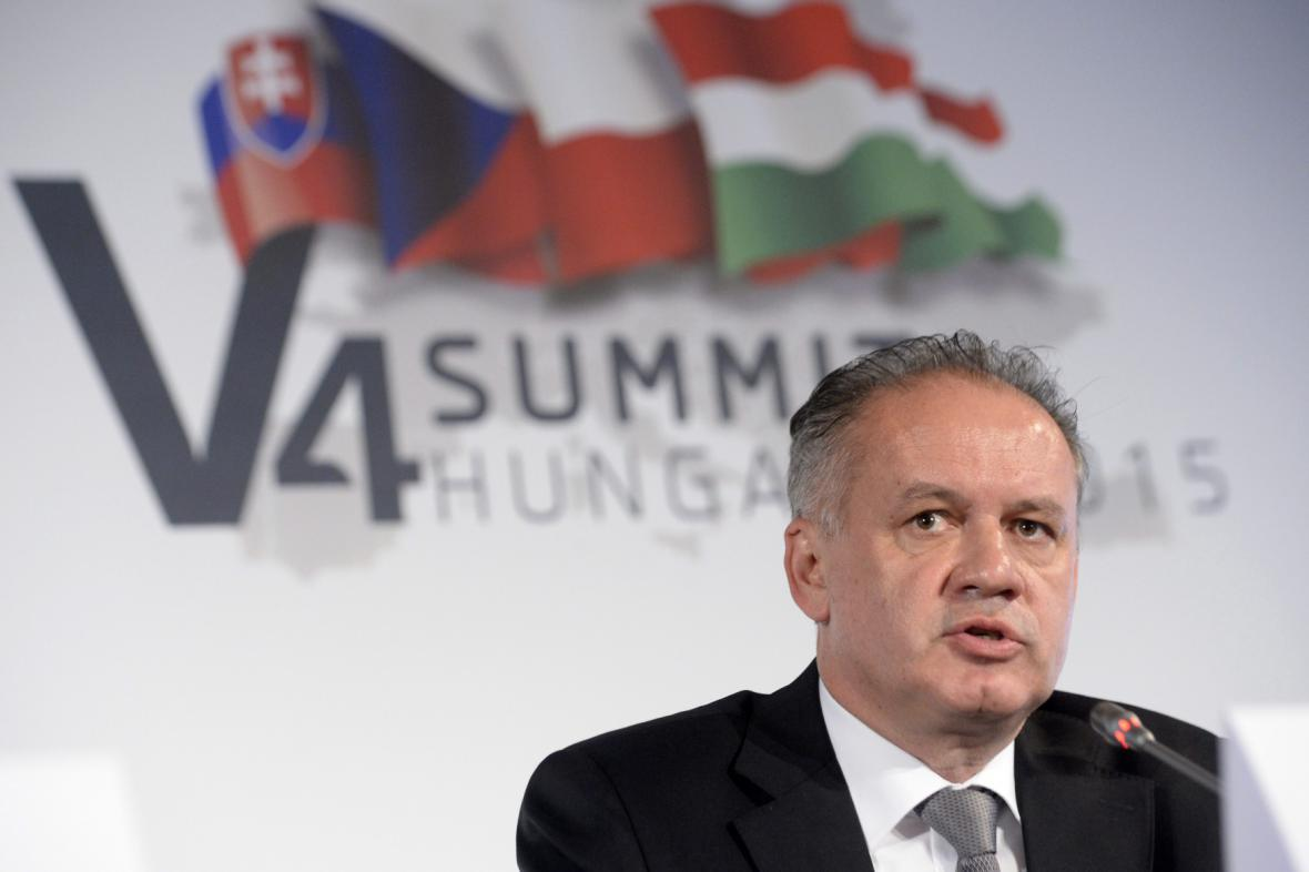 Andrej Kiska na říjnovém setkání hlav států Visegrádu v maďarském Balatonfuredu