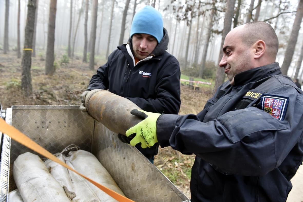 Pyrotechnický průzkum Bořího lesa