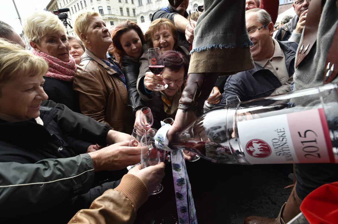 Svatomartinská vína jdou na trh