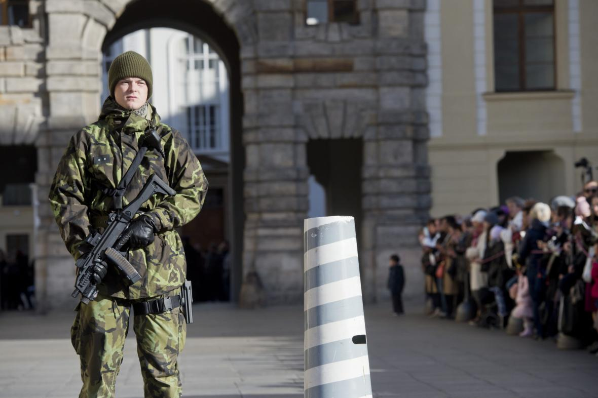 Voják na Pražském hradě