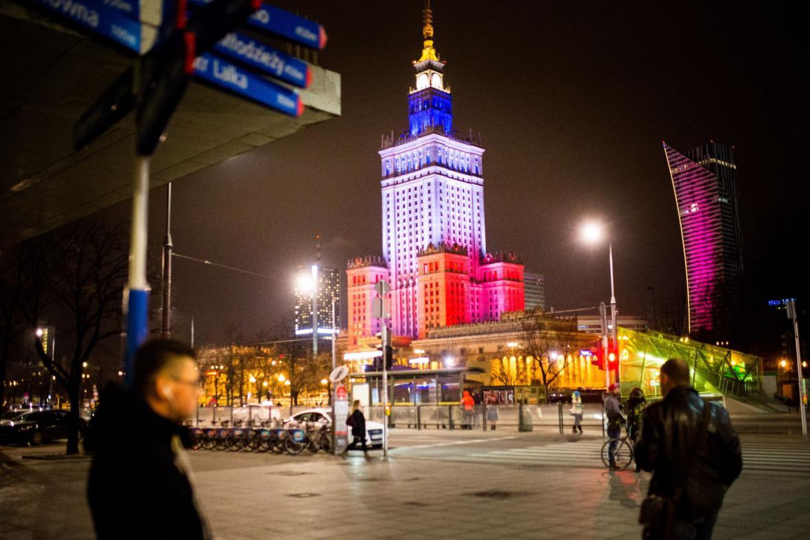 Varšava ve francouzských národních barvách