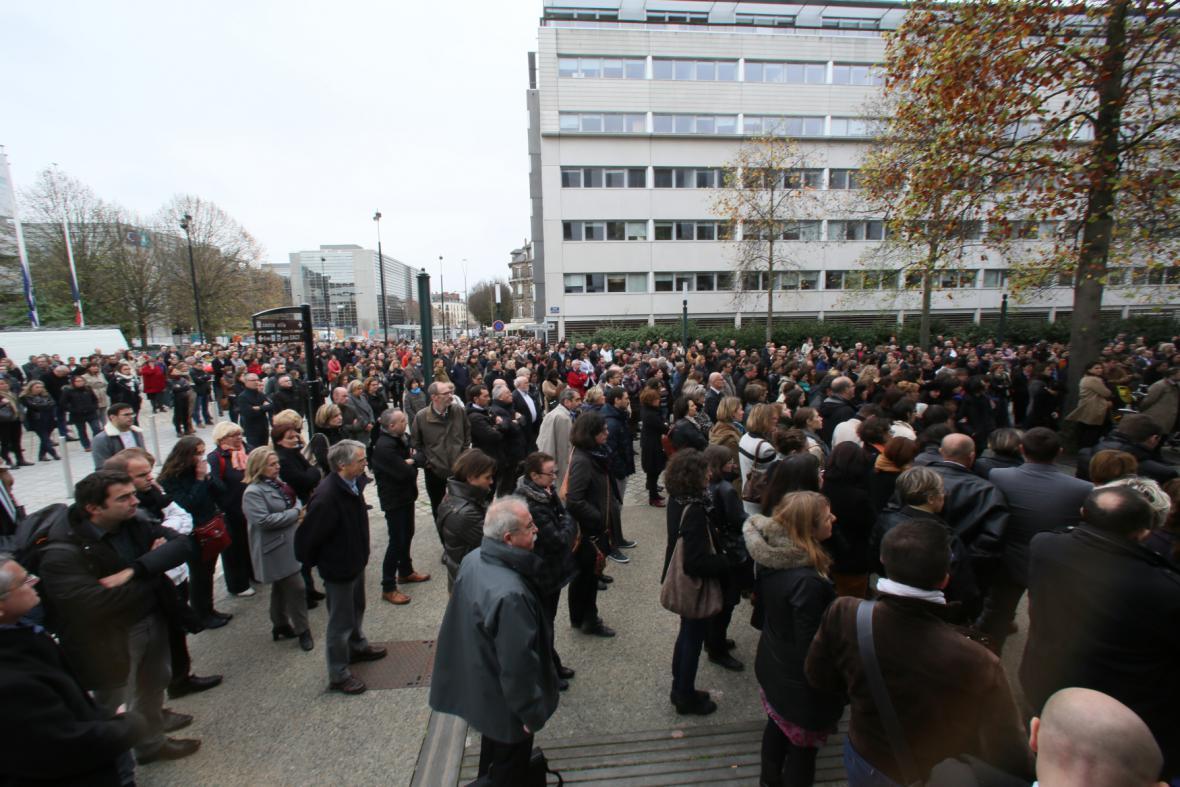 Shromáždění ve francouzském Nantes