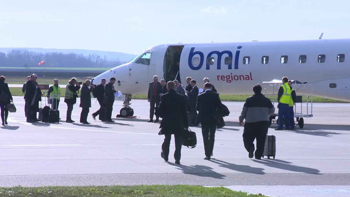 První cestující do Mnichova na brněnském letišti