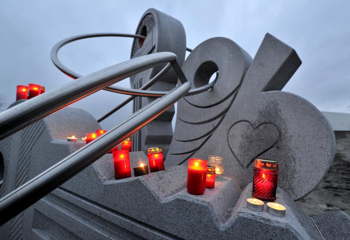 V Jihlavě odhalili pomník, který symbolizuje svazek klíčů