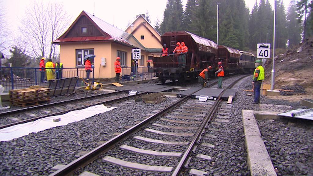 Rekonstrukce nádraží v Harrachově