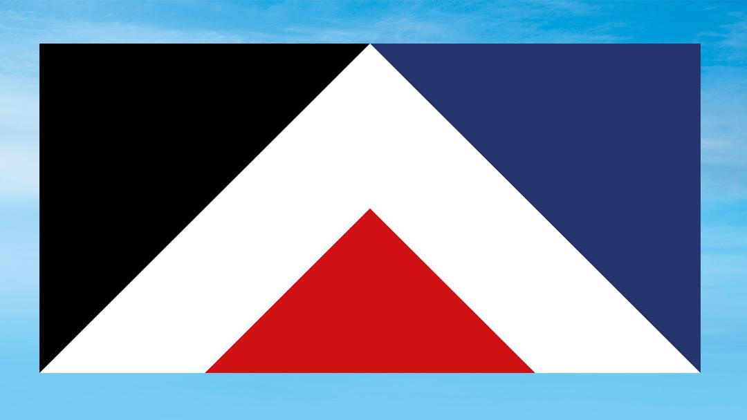 Vlajka s názvem Červený vrch (autor návrhu: Aaron Dustin)