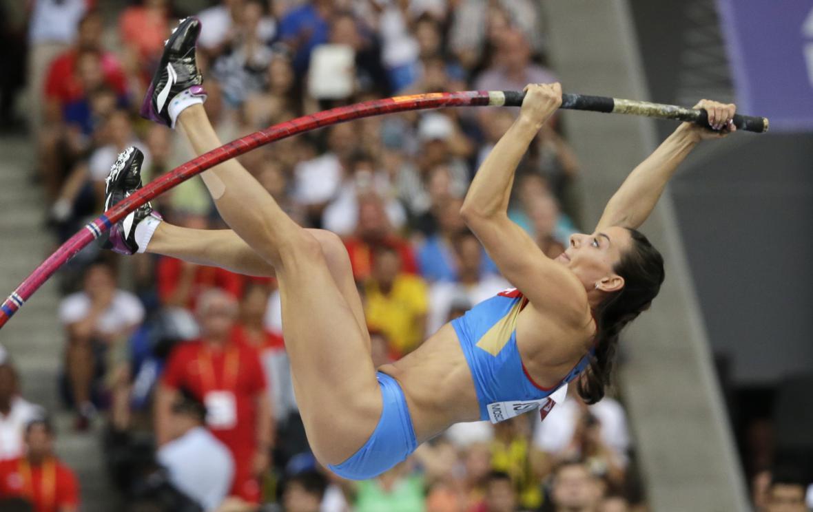 Ruská tyčkařka Jelena Isinbajevová