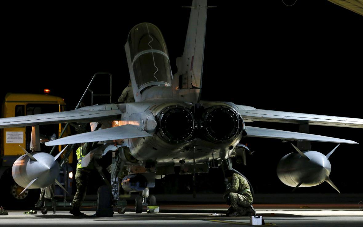 Britské tornádo po návratu v náletu v Sýrii