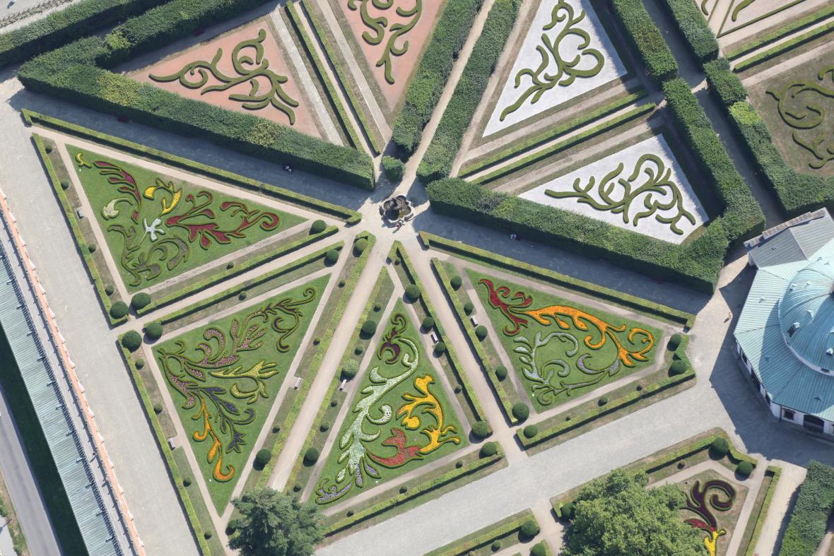 Květná zahrada zámku Korměříž