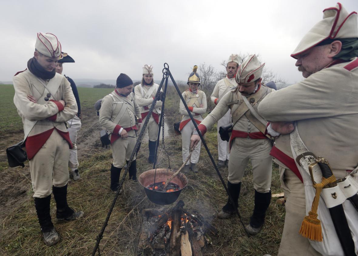 Bitva tří císařů: rekonstrukce u příležitosti 210. výročí bitvy u Slavkova