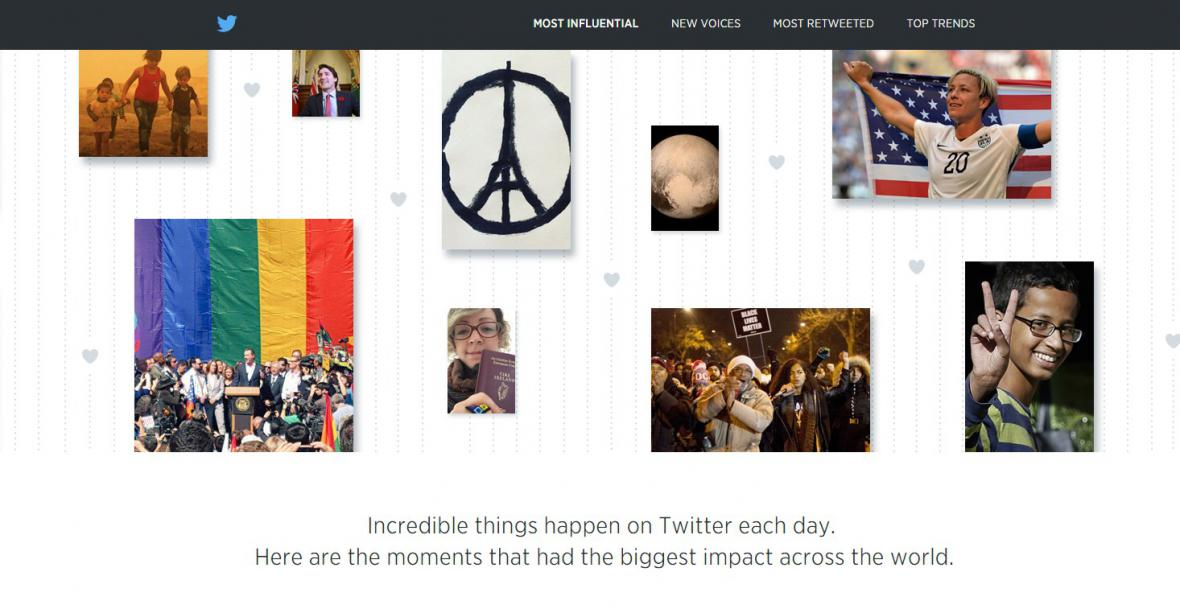 Rok 2015 očima Twitteru