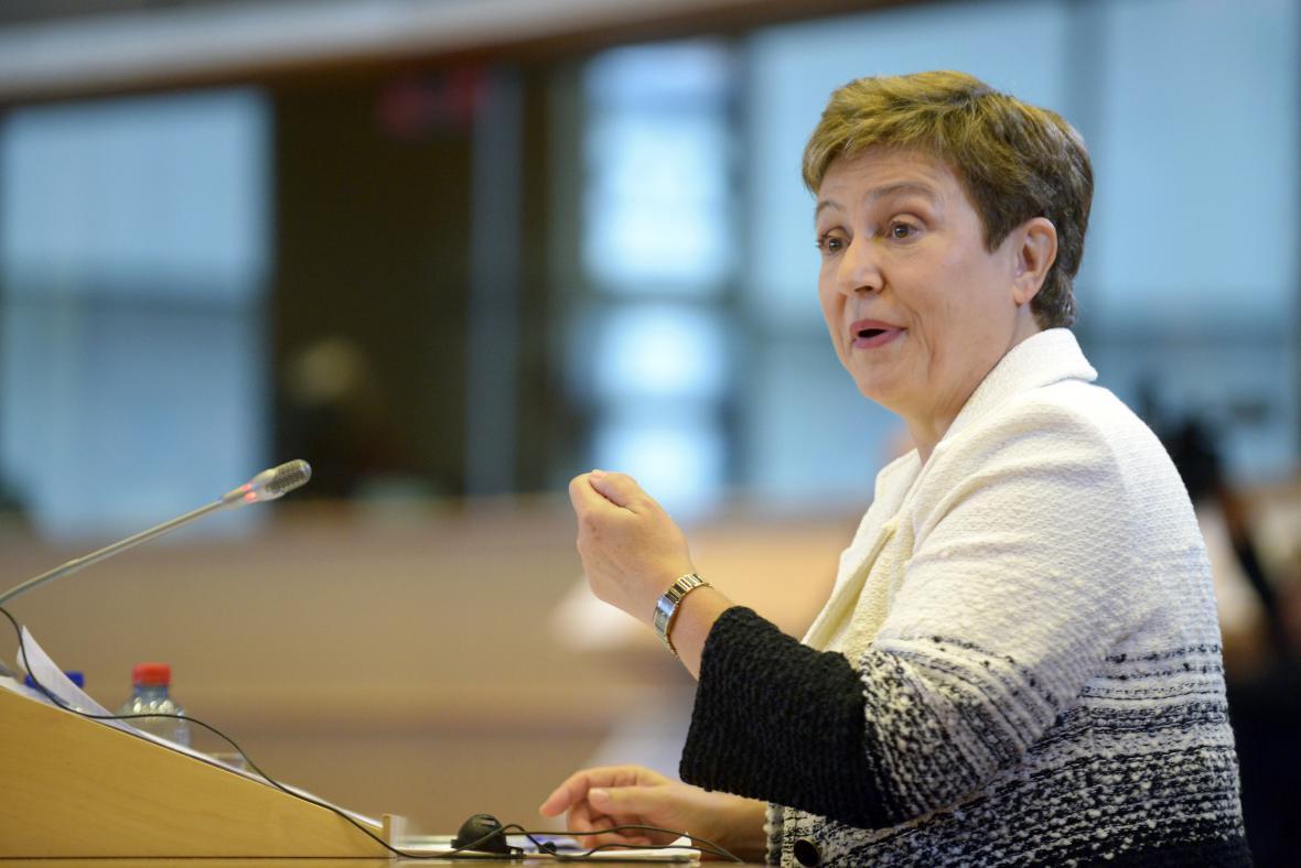 Místopředsedkyně Evropské komise Kristalina Georgievová