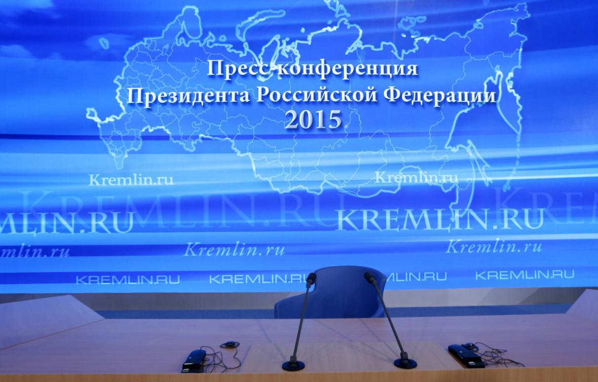 Přípravy na výroční brífink Kremlu