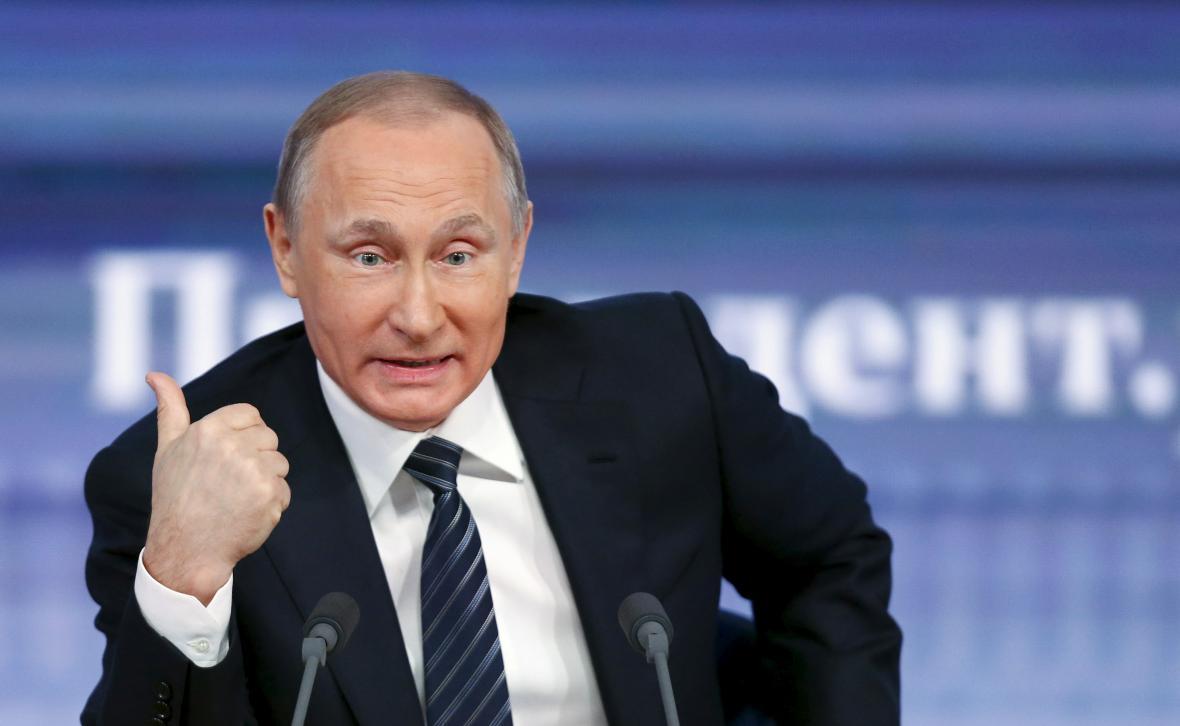 Vladmir Putin na výroční tiskové konferenci