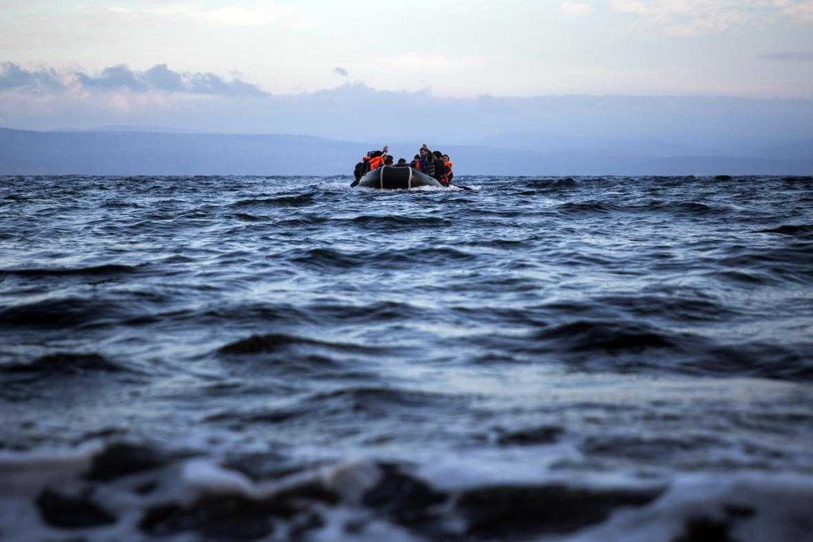 Uprchlíci vstříc evropskému pobřeží