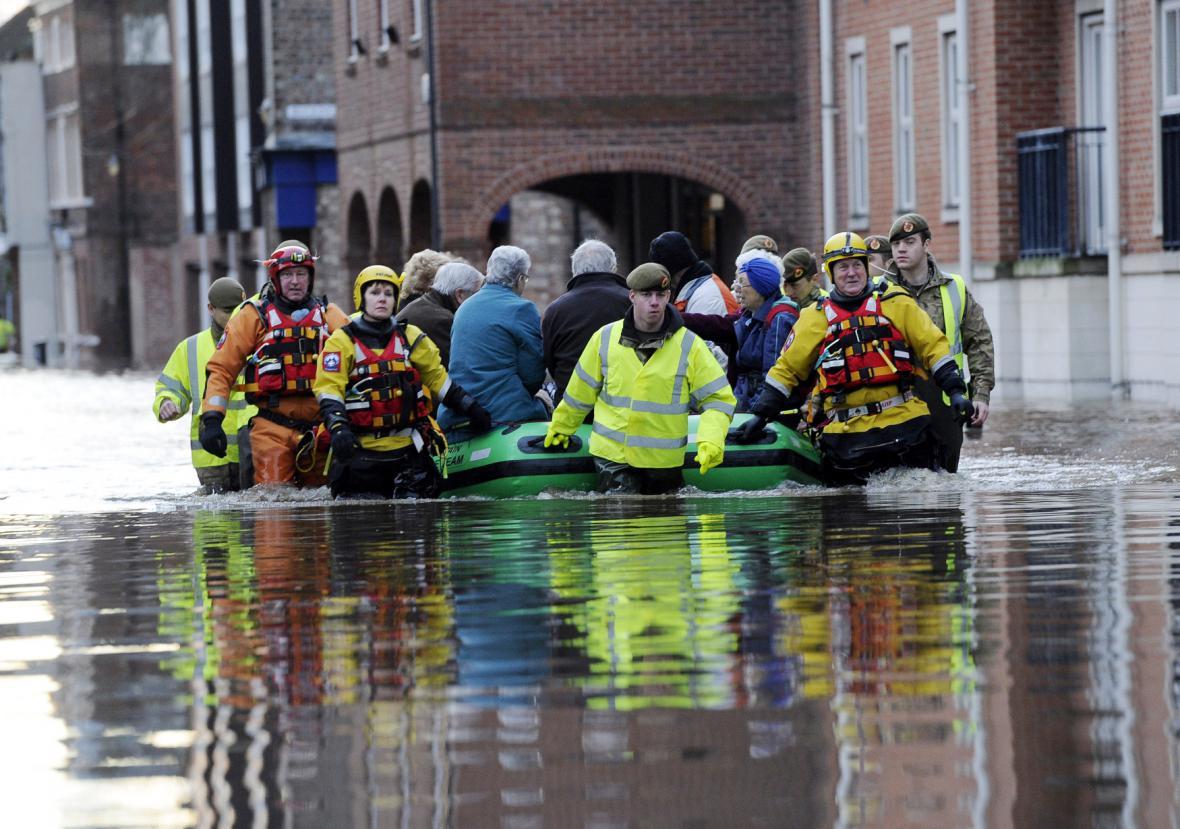 Záplavy v Anglii