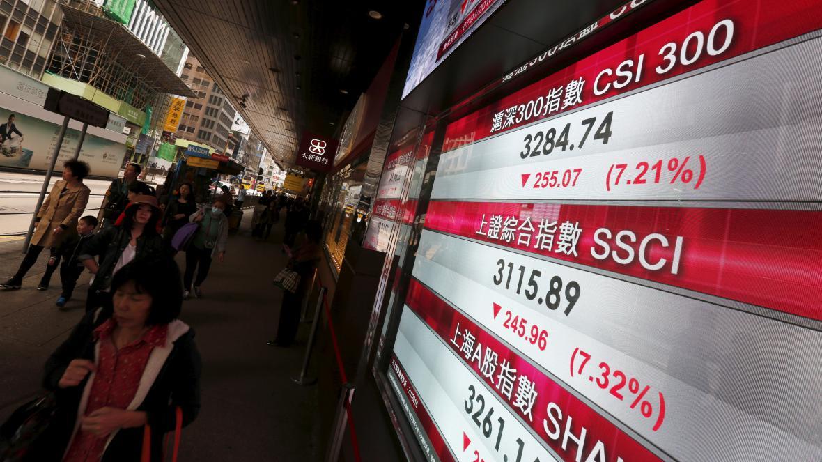 Propady na čínských burzách