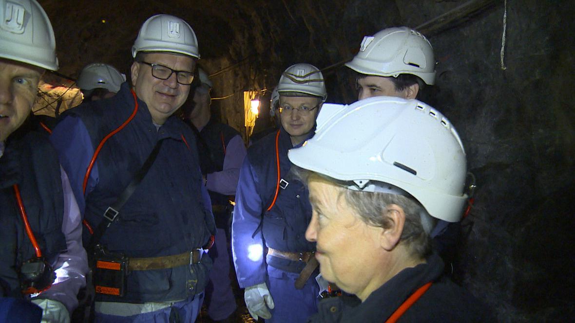 Laboratoř v uranovém dole Rožná